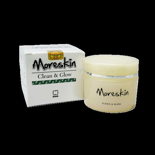 Moreskin Clean Glow Nasa Original Cream Pemutih Dan Pencerah Kulit Wajah