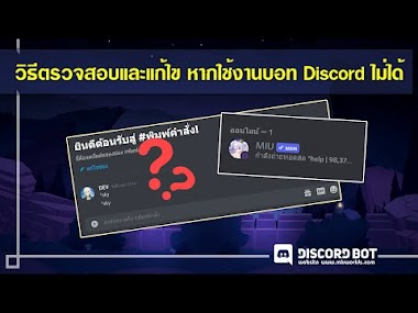 การตรวจสอบและแก้ไข หากใช้งานบอท Discord ไม่ได้