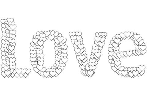Dibujo De Amor Para Colorear Dibujos Para Colorear Imprimir Gratis