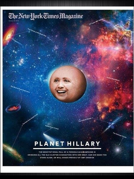 Is anyone else as creeped out by the New York Times magazine cover of Hillary Clinton? It's bizarre and weird.