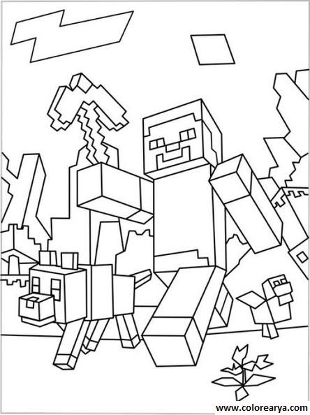 Dibujos De Minecraft Para Colorear Wwwperfectoimagenescom