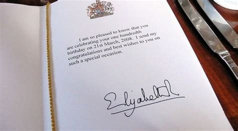 Does the Queen actually write to people when they turn 100