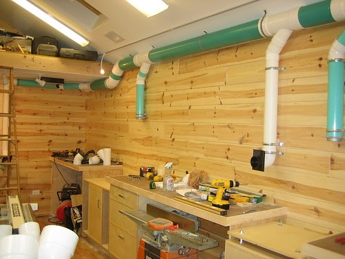 De Wuud: Complete Woodworking shop dust collection system