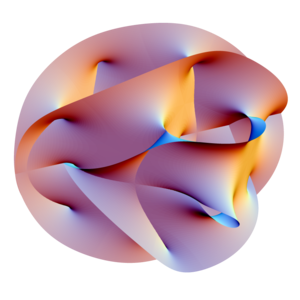 Projection of a Calabi-Yau manifold, one of th...