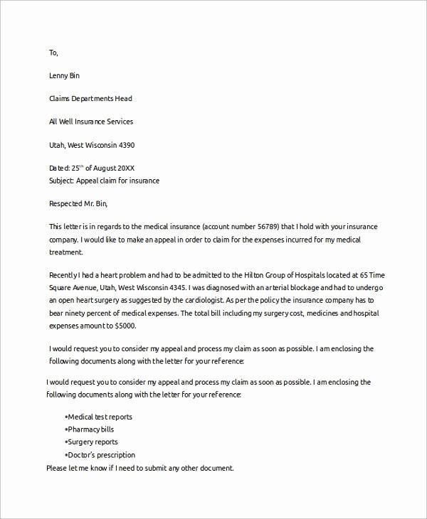 Medical Insurance Claim Denial Letter Sample - Reiki Healing