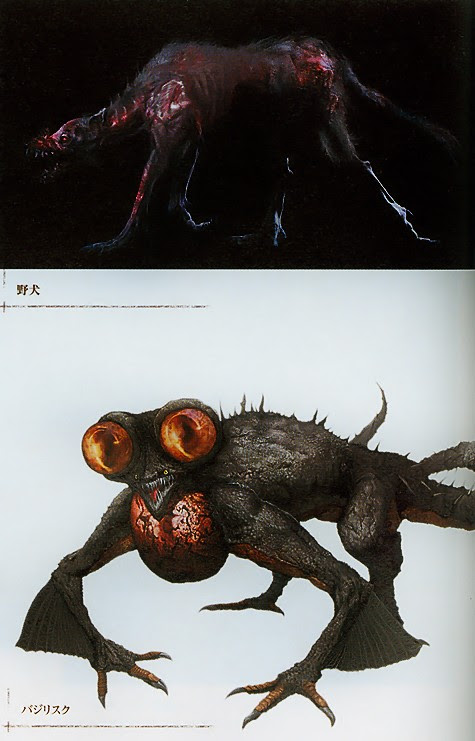 Dark Souls - Undead Attack Dog and Basilisk