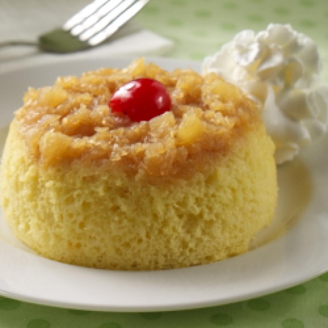 Pineapple Upside Down Mug Cakes Recipe   Just A Pinch Recipes