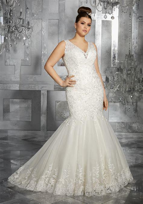 Minerva Plus Size Wedding Dress   Style 3223   Morilee