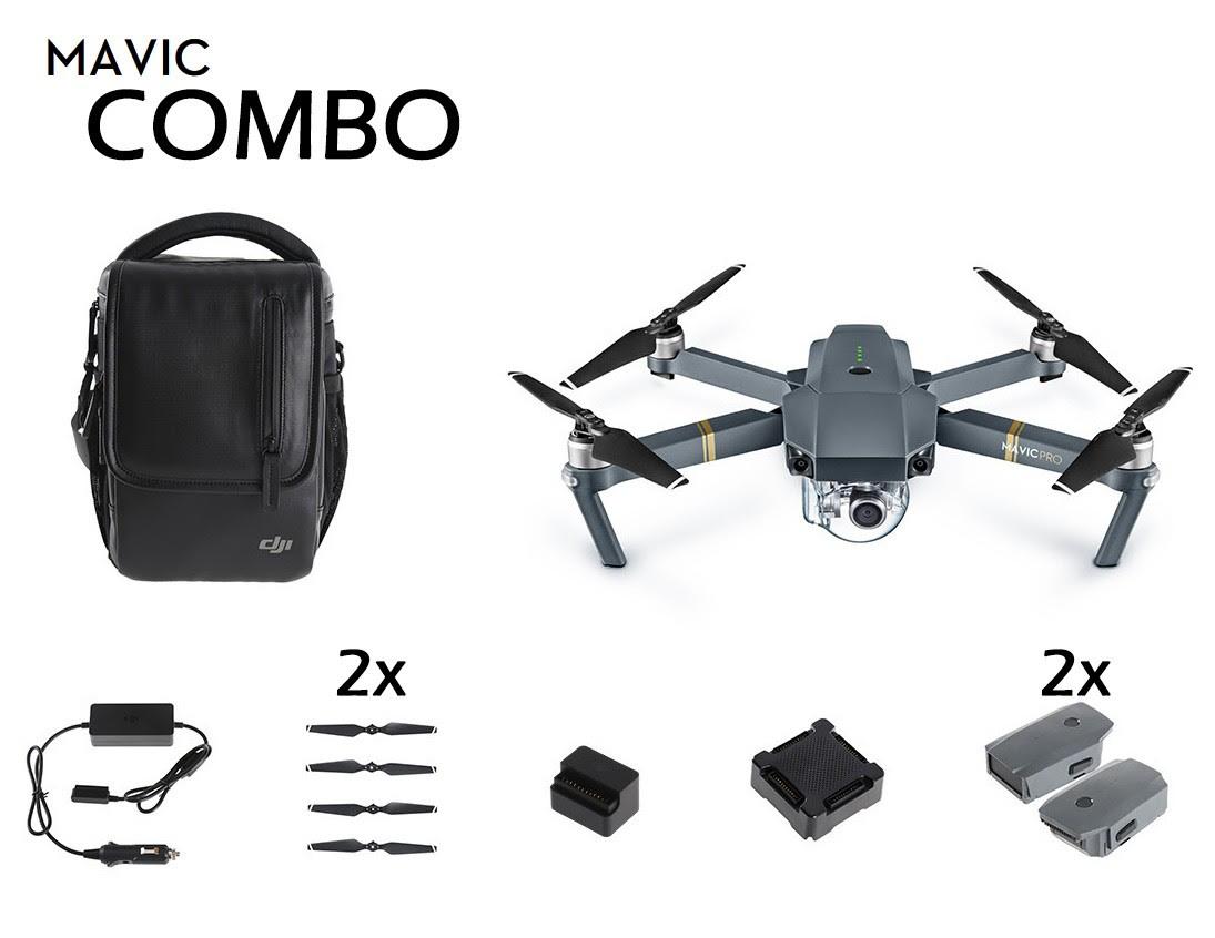 DJI Mavic Pro - Fly More Combo - Foldable Mini Aerial Drone