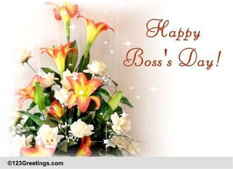 Warm Wish On Boss's Day. Free Happy Boss's Day eCards