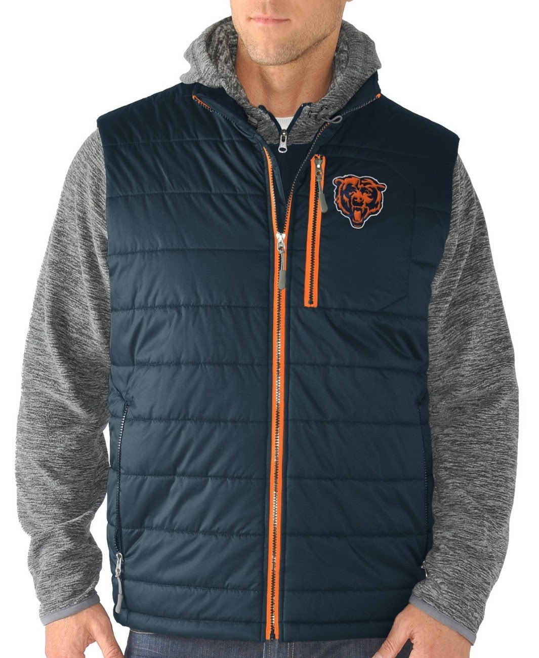 Chicago Bears GIII NFL quot;Double Trackquot; Systems 3in1 Premium Vest Jacket  eBay
