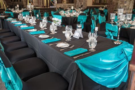 Black Teal Wedding Decor   Ottawa Wedding Planners