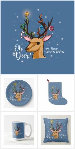 """Oh Deer"" Christmas Decoration"