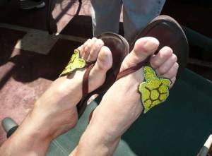 Turtle flip-flops