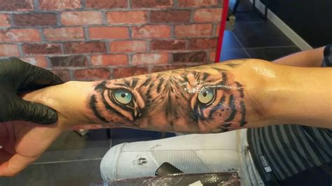 daniel maers tiger blue eyes tattoo youtube