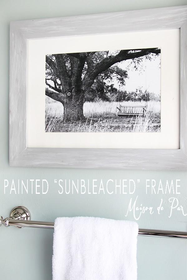 A Painted Sunbleached Frame And An Announcement Maison De Pax