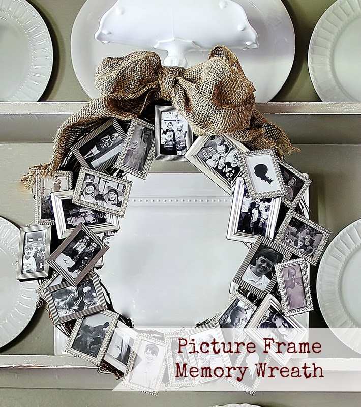 Make A Picture Frame Memory Wreath Dollar Store Crafts