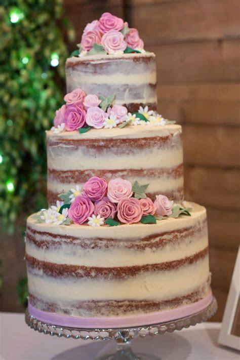 How to make a semi naked wedding cake   Recipes Made Easy