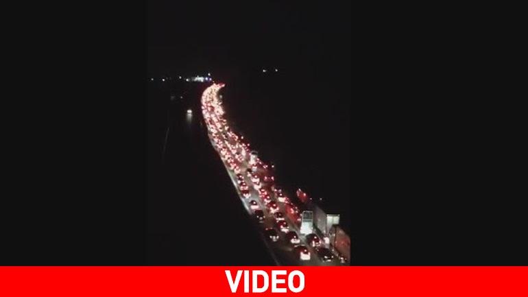 Κυκλοφοριακό κομφούζιο στην Εθνική Οδό Αθηνών- Κορίνθου στον Ισθμό
