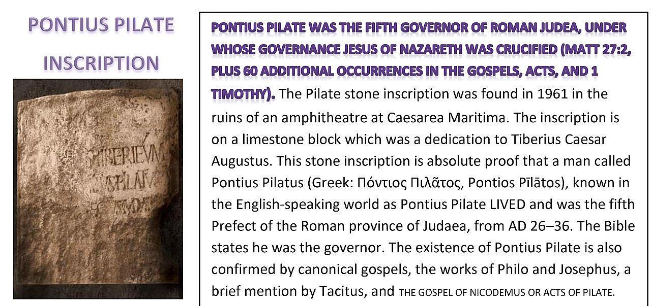Pilate Stone. Pilate Inscription. Pontius Pilate inscription.