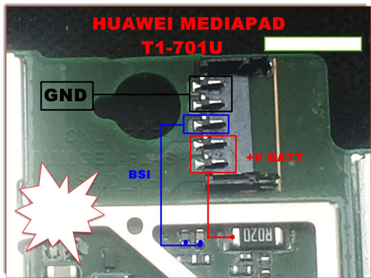 Huawei MediaPad T1- 701U Battery Connector Terminal Jumper Ways