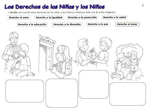Laminas Sobre Los Derechos Del Nino Actividades Para Ninos