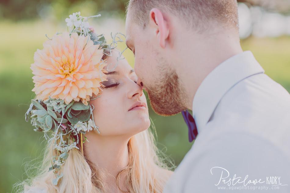 sesja ślubna pastelowa