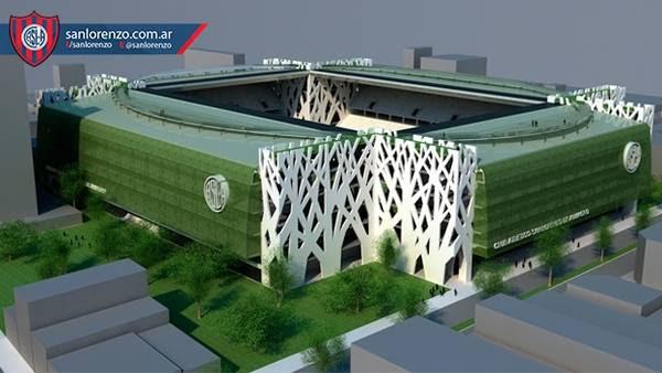 El anteproyecto del nuevo estadio de San Lorenzo. (www.sanlorenzo.com.ar)