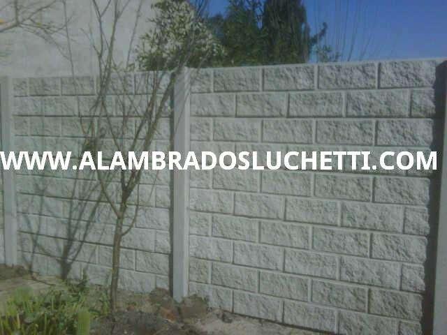 Muros premoldeados de hormigon simil ladrillos