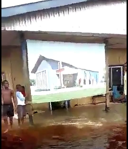 Image result for Flood Ravages Delta State As Children Swim In Their Classes