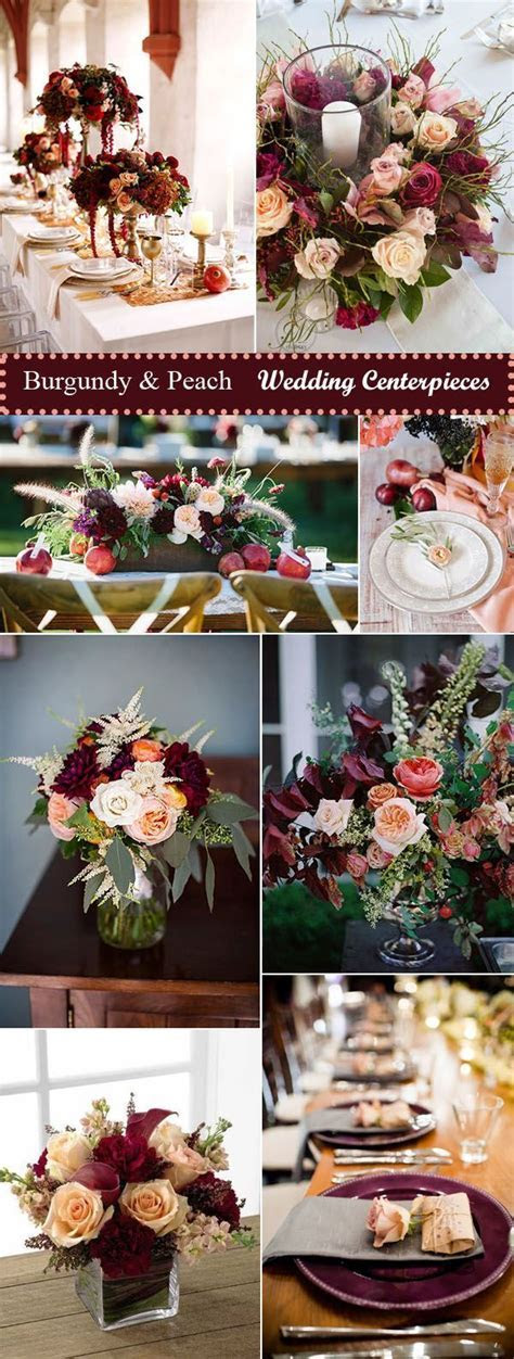 35 Inspiring Burgundy and Peach Wedding Ideas for 2017 in