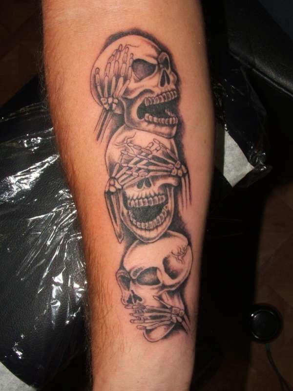 Hear Speak See No Evil Tattoo On Arm