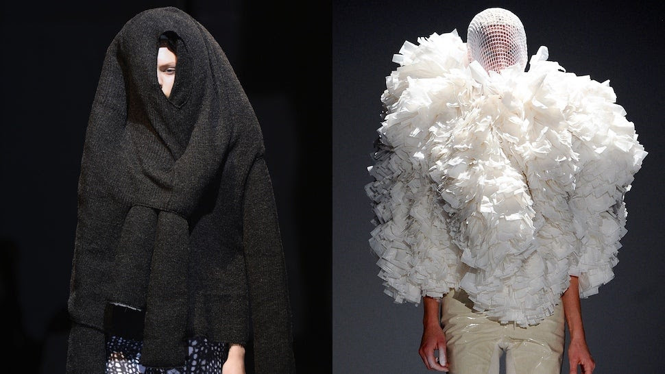 Fashion Would You Rather: Hulking Sweater Monster vs. Elegant Loofa