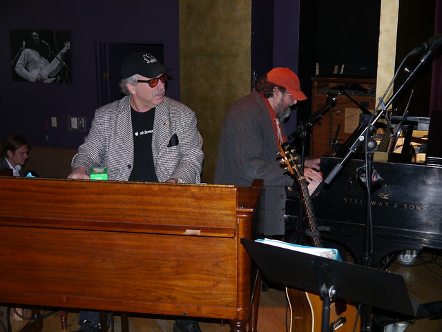 Mike Greensill at The Steinway seen here with Jon Hammond at Hammond B3 organ