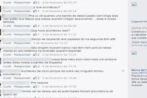 """Diálogo no Facebook em que o internauta xingou a Policial Militar de """"bando de lazarento"""""""