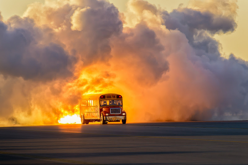 Jet powered Schoolbus