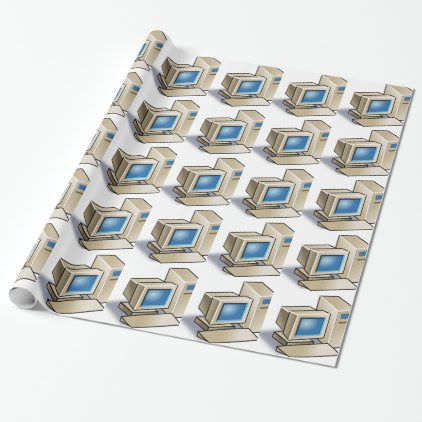 Retro Computer Wrapping Paper