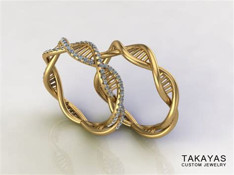 The DNA Wedding Band Set Is For Science Loving Lovers