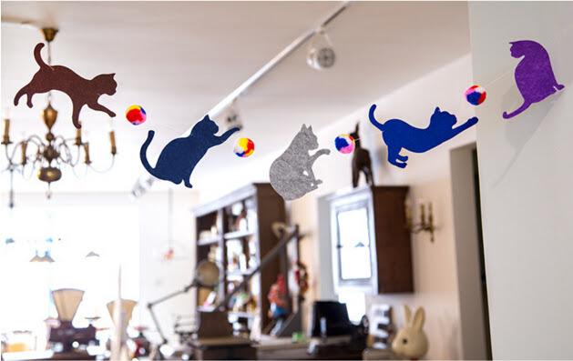 Birthday Party Hanging Animal Cat Garland Baby Shower