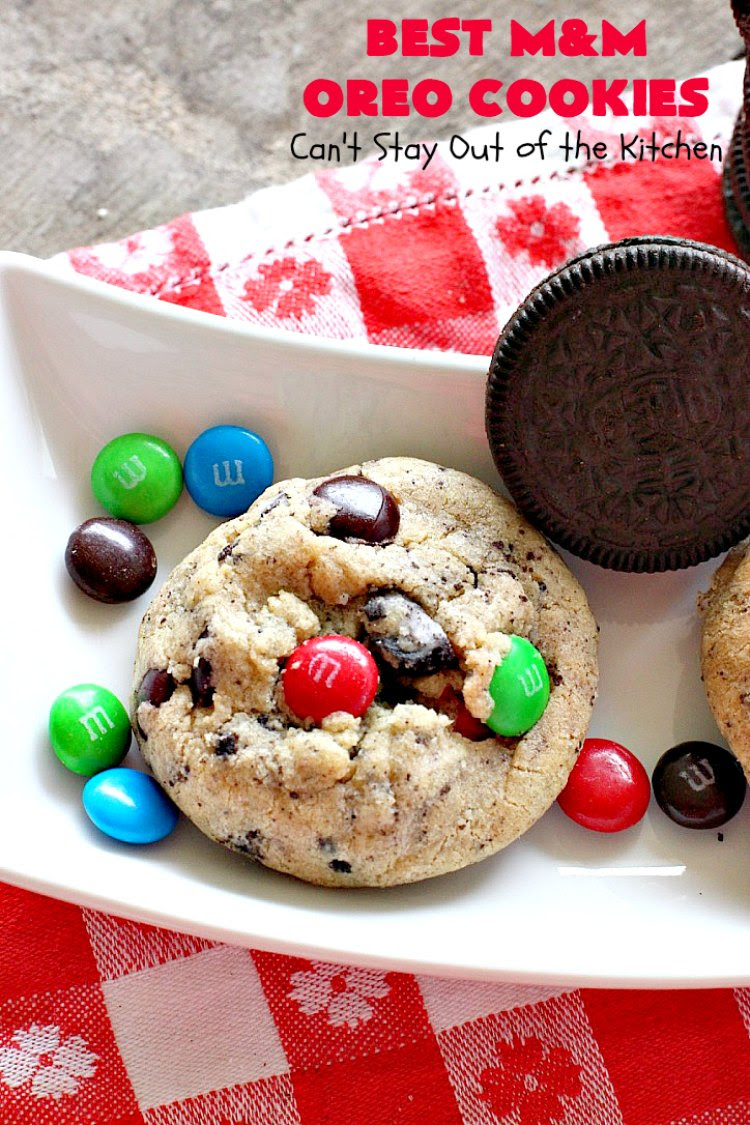 Best M&M Oreo Cookies - Can't Stay Out of the Kitchen