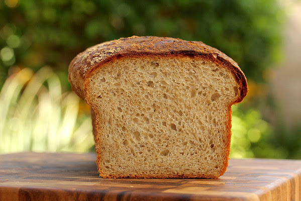 No Knead Light Wheat Sandwich Bread from Karen's Kitchen Stories