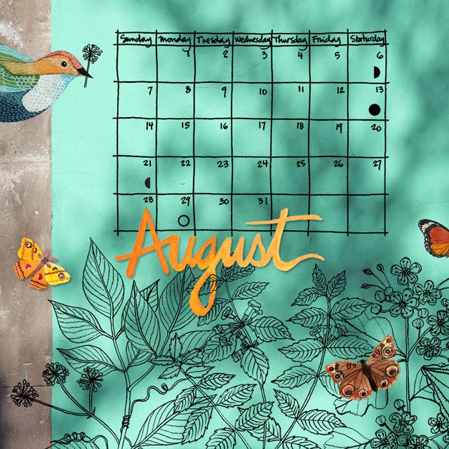 August Desktop Calendar