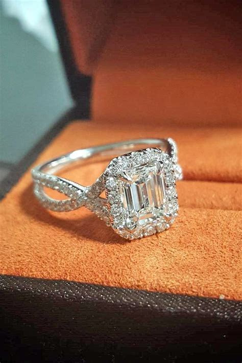 25  best ideas about Emerald cut engagement rings on