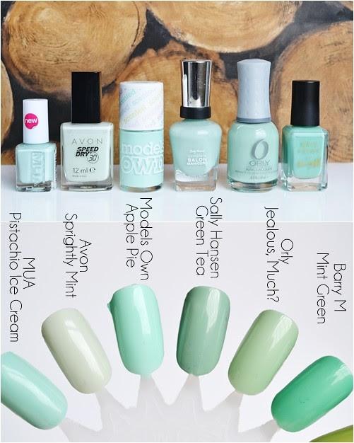 Pastel_green_nail_polishes