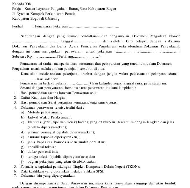 Contoh Proposal Penawaran Barang: Contoh Surat Penting: Contoh Surat Penawaran Harga Proyek
