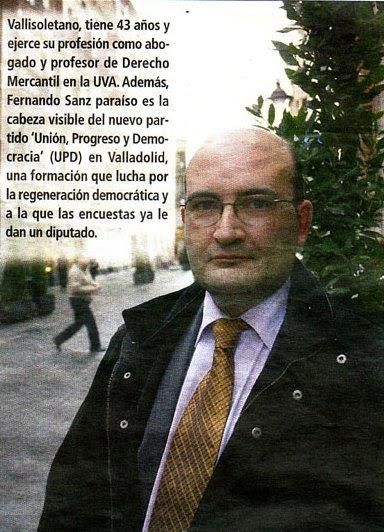 Luis Fernando Sanz Paraíso, UPyD Valladolid