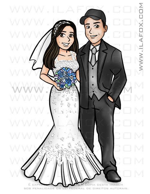 caricatura para noivos, caricatura casal, caricatura noivinhos, caricatura personalizada, caricatura bonita, by ila fox