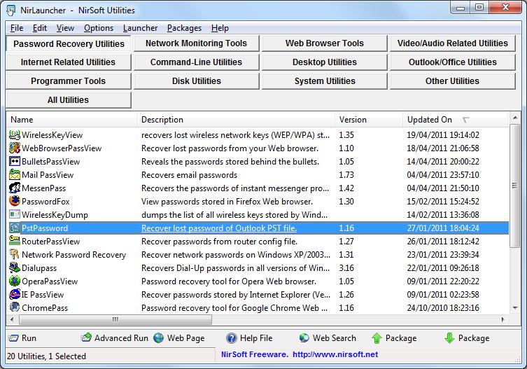 تحميل برنامج NirLauncher1.17.19 مجموعة ممتازة من الأدوات المجانية لاستكشاف الأخطاء جميعها وإصلاحها بجهازك