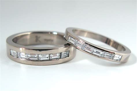New fashion wedding ring: Mens wedding rings baguette diamonds