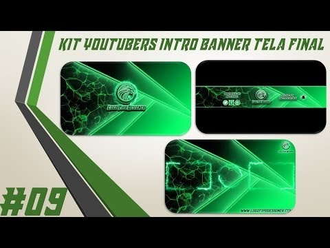 Kit Youtuber #09 Intro Banner Tela Final Para Youtubers